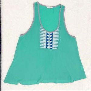 Lush Lightweight Tank with Embroidery